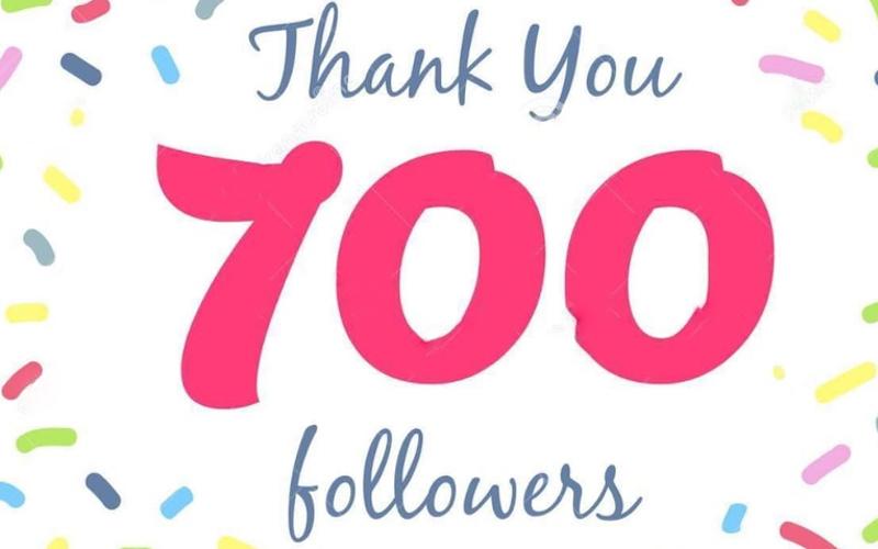 Merci à nos 700 followers Facebook !